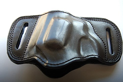 cal38 Handcrafted Leather Belt Slide Holster for Rock Island Armory M206 38 Special (R.H) (Black)