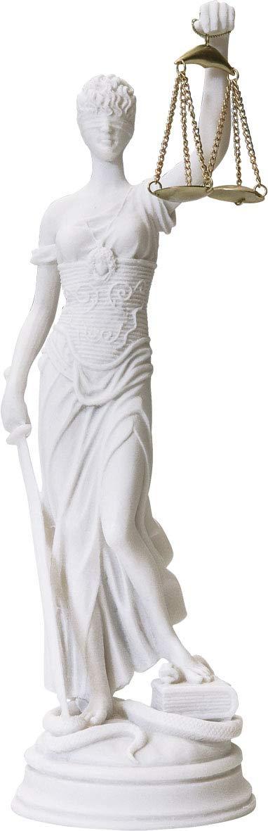 Statue Themis Greek Goddess Figurine//Blind Lady Justice//Decorative Alabaster 35cm 13.77 inches