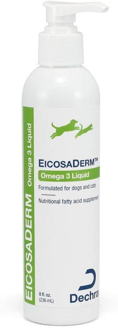 Dechra EicosaDerm Omega 3 Liquid for Dogs Cats Nutritional Fatty Acid Supplement