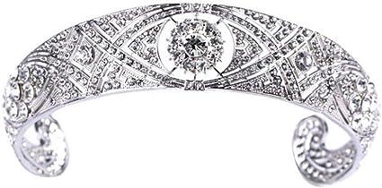 Rhinestone Crystal Meghan Wedding Crown Queen Mary Bandeau Tiara