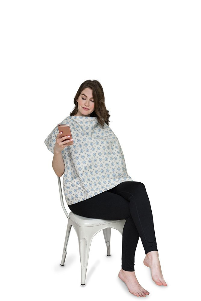 Belly Armor Nursing Cover With Anti-Radiation Shielding Fabric (Aster) | EMF Protection