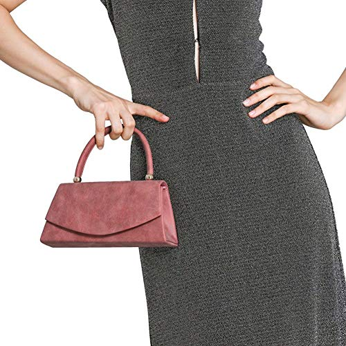 Evening Velvet Bag Suede WALLYN'S Wedding Purse Women's Classic Party Prom Red Envelope Handbag Clutch qvWHHExt