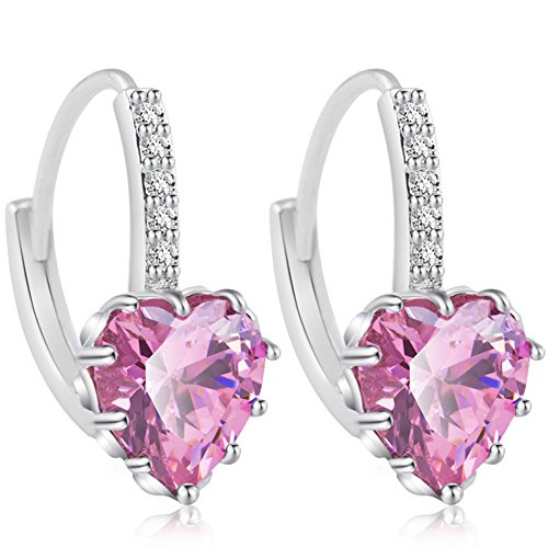 women's earrings silver 925_silver earrings 925 ladies _ Mother's day gift jewelry_Cubic Zirconia Earrings_Crystal earrings