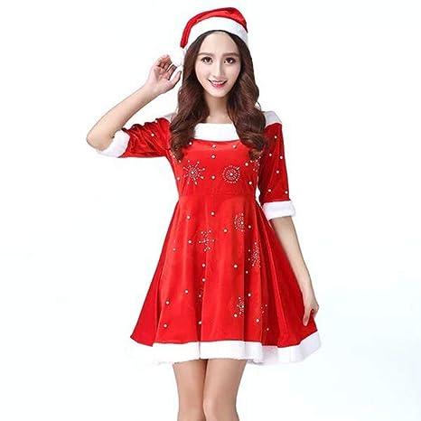 Yunfeng Disfraces de Papá Noel para Mujer Adultos Traje de ...