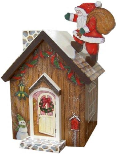 トールペイント ご自分で描く図案付白木素材キット cwk-078 ロールティシュのクリスマスハウス