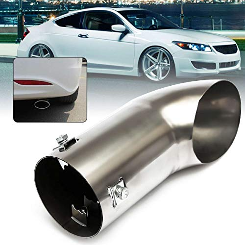 (Iris-Shop - 30mm-55mm Car Exhaust Tail Pipe Polished Stainless Steel Trim Chrome Tip Blow Down Bumper)