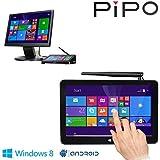 "PIPO X8 Mini PC Windows8.1 Android4.4 Dual Boot Intel Atom Z3736F Quad Core Mini Computer Box 7""Tablet HDMI 2G/32G 802.11b/g/n LAN BT4.0 USB 2.0 X 4"