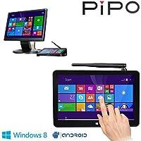 "PIPO X8 Mini PC Windows8.1 Android4.4 Dual Boot Intel Atom Z3736F Quad Core Mini Computer Box 7""Tablet HDMI 2G/32G 802.11b/g/n LAN BT4.0 USB 2.0 X 4(US Version imported by uShopMall U.S.A.)"