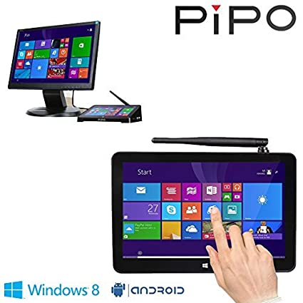 PIPO X8 Mini PC Windows8 1 Android4 4 Dual Boot Intel Atom Z3736F Quad Core  Mini Computer Box 7