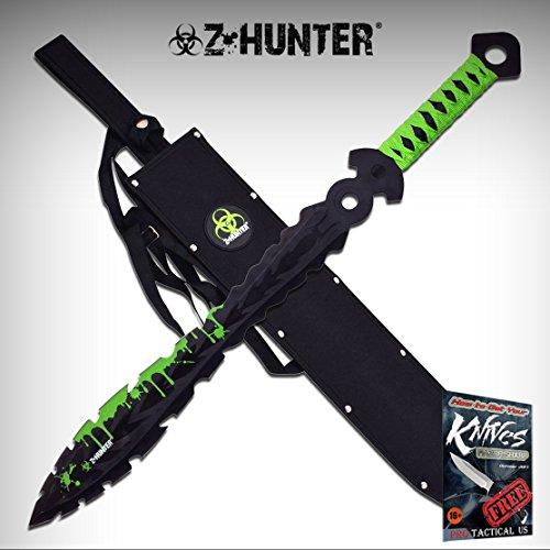 "Z-Hunter 122 Green Cord Handle 27"" Fantasy Sword w/20"" Black"