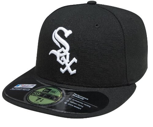 New Era 59FIFTY Chicago White Sox MLB 2017 Authentic Collection On Field Game Cap Size 7 5/8 ()