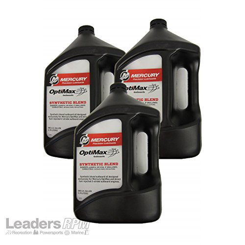 Mercury Synthetic Blend Optimax DFI Outboard Oil Case 3 Gallons 92-858037K01