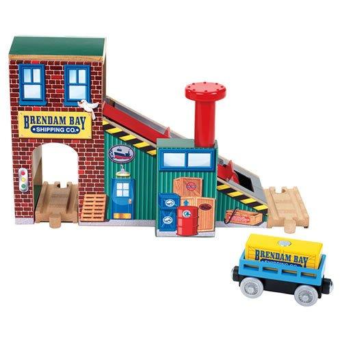 Fisher-Price Thomas & Friends Wooden Railway Brendam Bay Cargo Loader Toy
