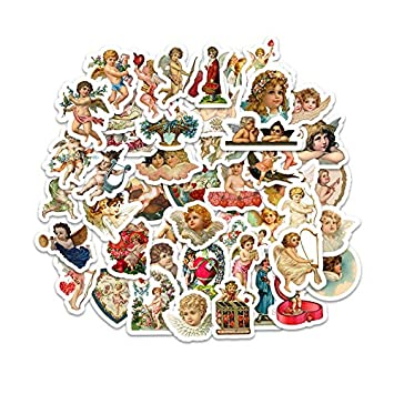 Retro Cupid Angel Stickers 50psc ST30 Car Laptop Luggage Motorcycle Skateboard