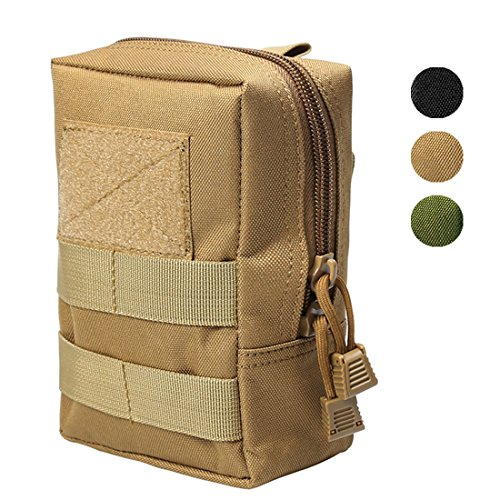 Coyote Lightweight Vest - Hoanan Molle Pouches, Tactical Admin Pouch Compact EDC Utility Gadget Gear Pouch Military Carry Accessory Belt Hanging Waist Bag(24-coyote brown)