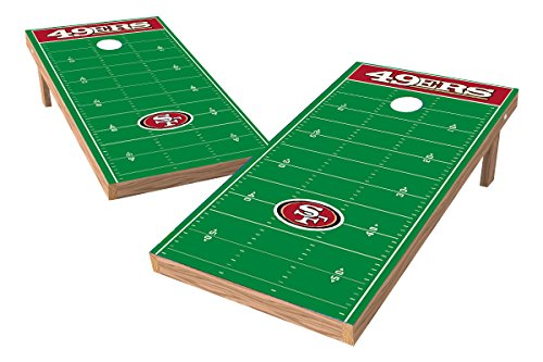 Wild Sports NFL San Francisco 49ers 2' x 4' Football Field Authentic Cornhole Game (Wooden Nfl Football)
