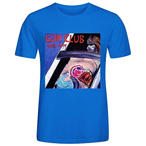 The Gun Club Death Party T Shirt Mens Blue