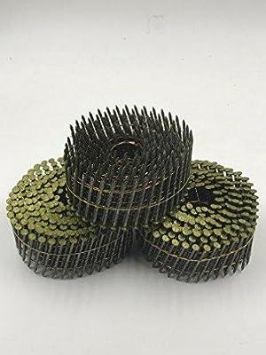 Coil nails 2''x0.099'' 15 degree 9000PCS by UPSUNLLC