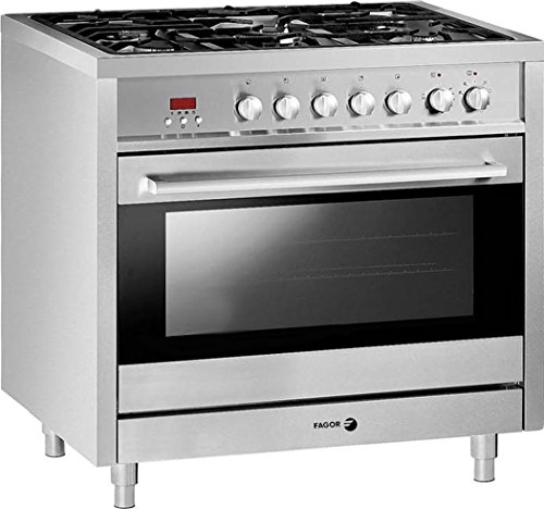 Dual Fuel Thermostat Range - Fagor RFA-365 DF Dual Fuel Range with Dual Convection, 5 Gas Burners and 7 Cooking Programs, 36-Inch