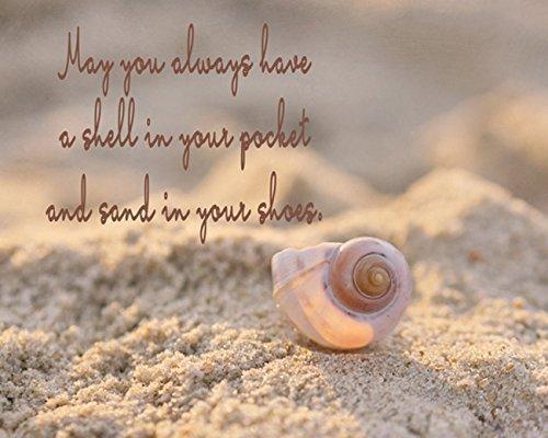 Inspirational Photographic Print, Inspirational Wall Art, Sea Shell Quote Art Print, Seashell Photograph, Coastal Beach Decor, Nautical Wall Art, Neutral Beach Bathroom Bedroom Decor
