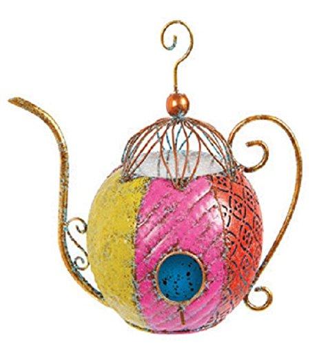 Darice Birdhouse Iron Tea Kettle
