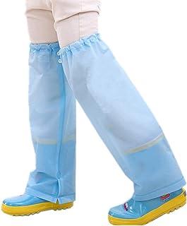 zhbotaolang Gamba Ghette Impermeabile Outdoor Pantaloni Pioggia Copertura Stivale Copre Marcia per Bambini Ragazzi Ragazze