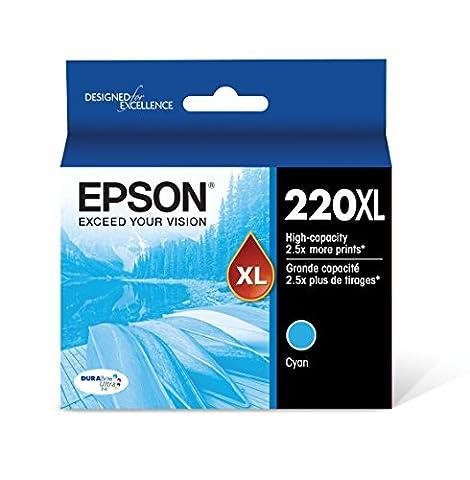 Epson T220XL220 DURABrite Ultra Cyan High Capacity Cartridge Ink (Epson 220 Inks)