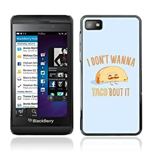 YOYOSHOP [Funny Taco Illustration] Blackberry Z10 Case
