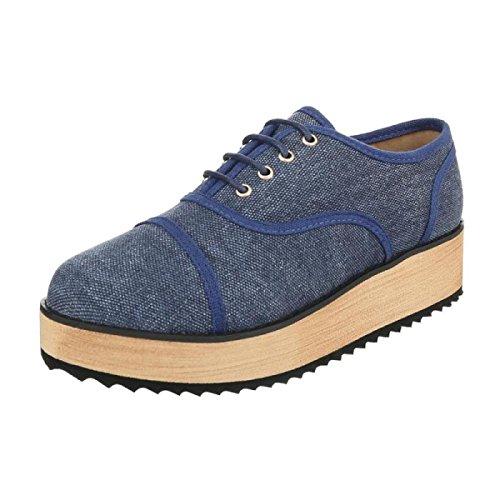 Cingant Zapatos Mujer Woman de con Cordones Lona fBfqrxw