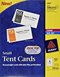 Avery Small Tent Cards, 2 Inch x 3.5 Inch, White, Box of 160 (5302)
