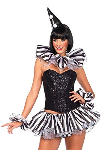 [Leg Avenue Women's 3 Piece Harlequin Costume Kit, Black/White, One Size] (Harlequin And Joker Costumes)