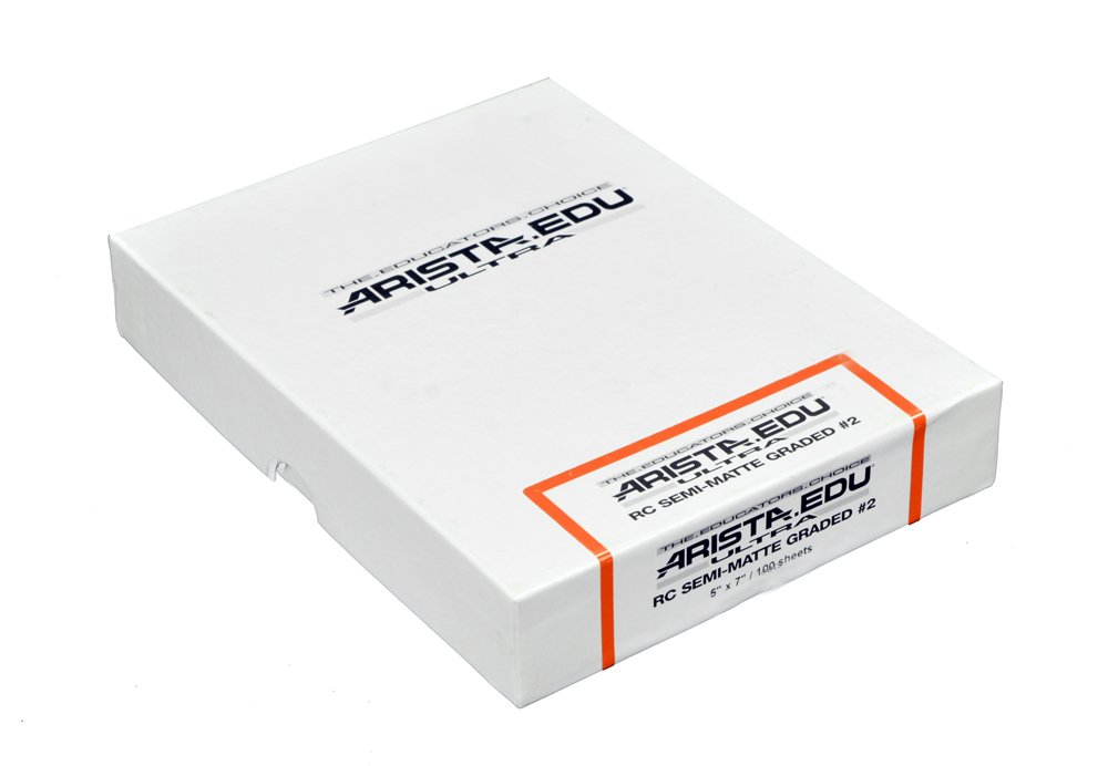 Arista EDU Ultra RC Black & White Photographic Paper, Semi-Matte #2, 5x7, 100 Sheets