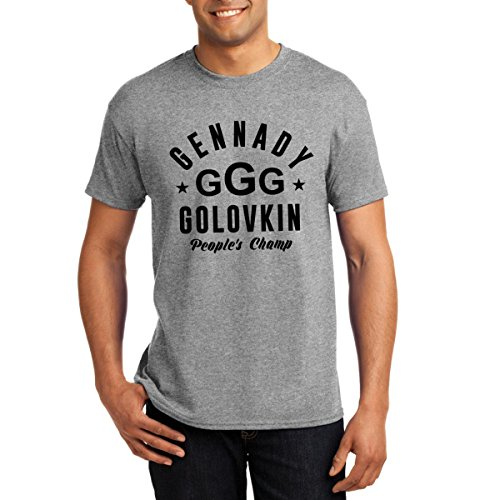Ocprintshirts Mens Tee  Tall  Peoples Champs Grey Ggg Golovkin T Shirt Xl Tall Gray
