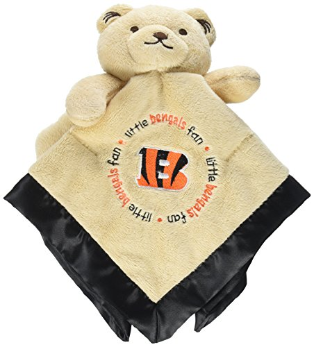 Cincinnati Bengals Baby Clothes - Baby Fanatic Security Bear - Cincinnati Bengals Team Colors