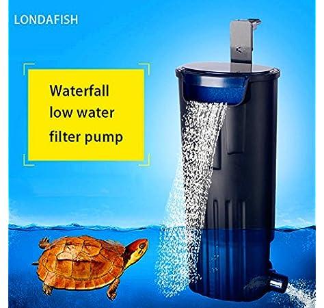 LONDAFISH Filtro Sumergible Mudo del Agua del Filtro de la Tortuga para la filtración del Tanque