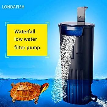 LONDAFISH Turtle Filter Water Submersible Filter for Turtle Tank/Aquarium 600L/H Filtration Low Water Level Filter