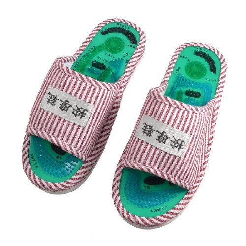 Gleader-Pair-Striped-Health-Care-Foot-Acupoint-Massage-Flat-Slippers-for-Lady