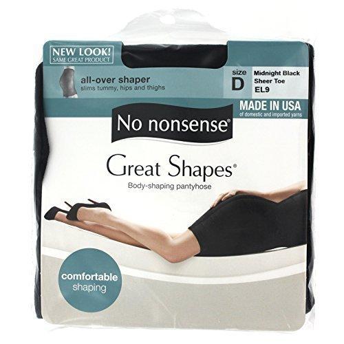 No Nonsense JQ5/EL9D Size D Midnight Black Shaper Nylons