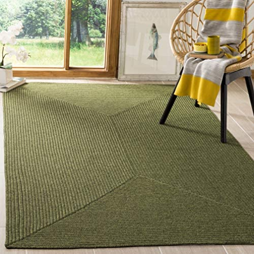 Safavieh Braided Collection BRD315A Hand Woven Green Area Rug 9 x 12