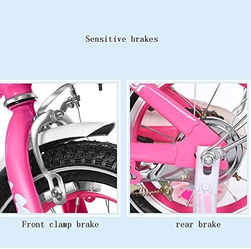 YSA キッズバイク子供用自転車12/14/16/18インチの男の子と女の子のサイクリング、2〜9歳の子供向けピンク/パープル/ローズレッド