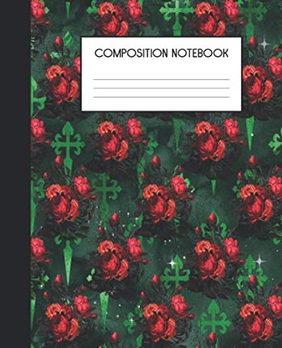 Composition Notebook: Wide Ruled Notebook | Gothic Christmas | Lined Journal | 100 Pages | 7.5 x 9.25