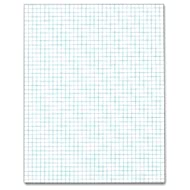 TOPS Quadrille Pad, Gum-Top, 8-1/2 x 11 Inches, Quad Rule , White Paper, 50 Sheets per Pad (33041)