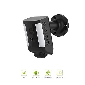 FREECAM Cámara de Foco Activada por Movimiento, Cámara de Seguridad Dos Vías Habla con Siren Alarma, Built-in Suspicious Intrusión Detección, L860 (Black): ...
