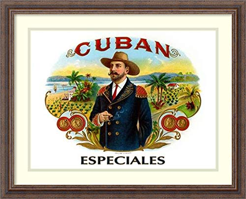 - Framed Wall Art Print Cuban Especiales Cigars by Cigar Art 26.25 x 21.25