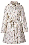 QZUnique Women's Packable Waterproof Rain Jacket Outdoor Raincoat with Zipper Beige,Beige,Onesize