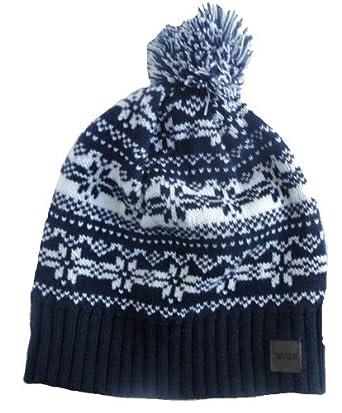 STYLE MIXX Mens Ladies Fair Isle New York Bobble Beanie Hat Wooly Knitted  Ski Pom Pom Hat (NAVY FAIRISLE)  Amazon.co.uk  Clothing dfb24da9cd5