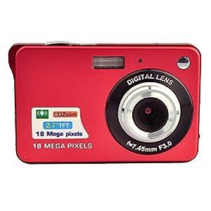 GordVE SJB26 2.7inch 18MP Mini Digital Camera 8x Digital Zoom Red Color