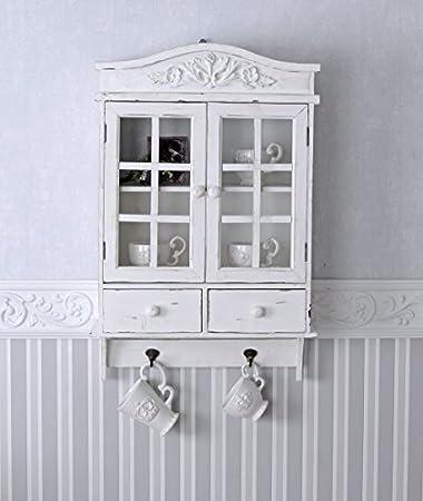 Küchen hängeschrank landhaus  Vintage Hängeschrank Weiss Schrank Shabby Chic Hängevitrine ...