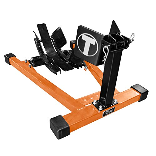 Titan Bulldog Moto Cradle Wheel Chock - Black and Orange