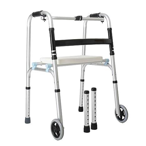 FFLSDR Andador Anciano Discapacitado, con Cuatro Patas ...